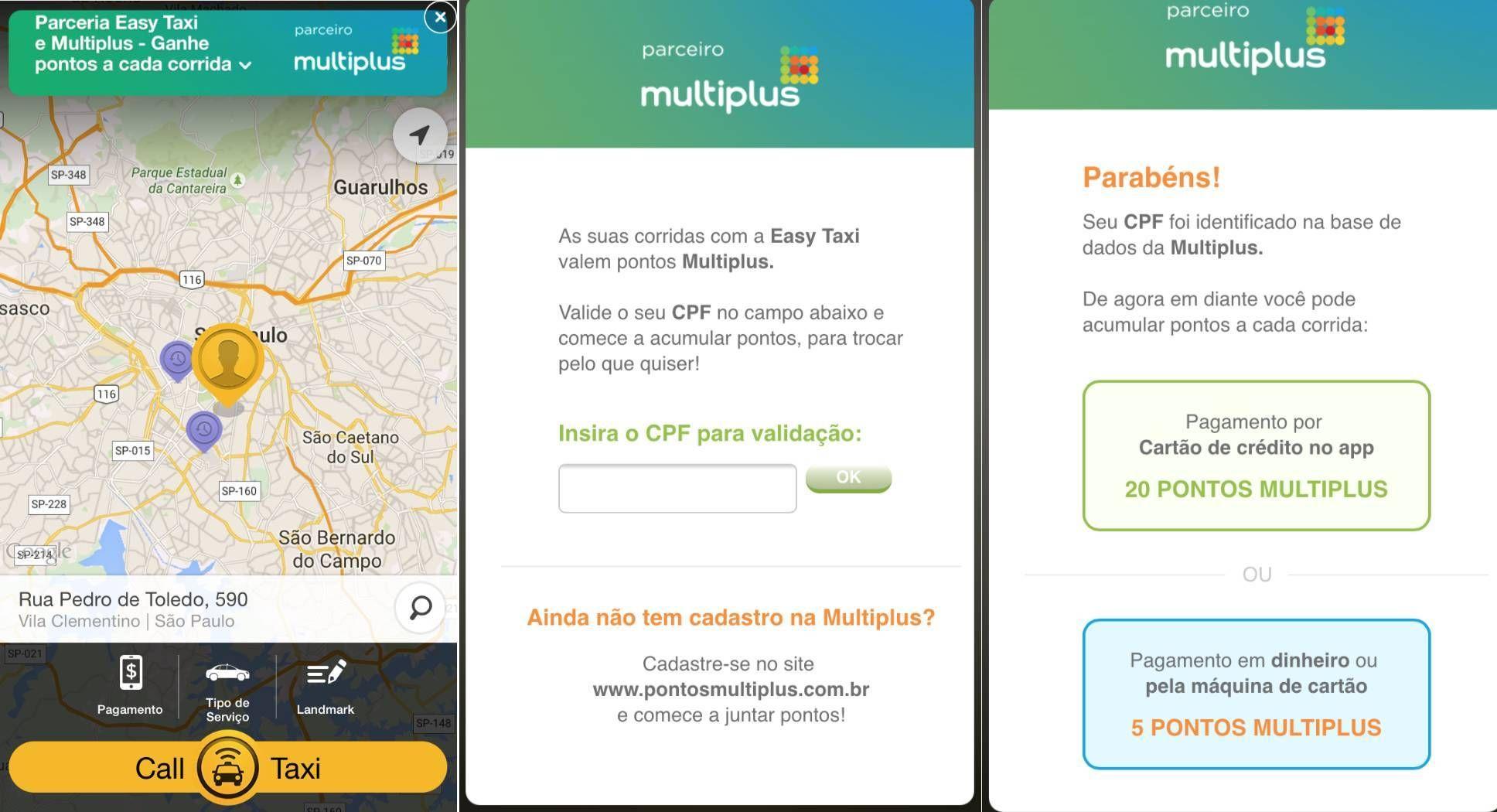 Easy Taxi oferece benefício inédito ao firmar parceria com a Multiplus