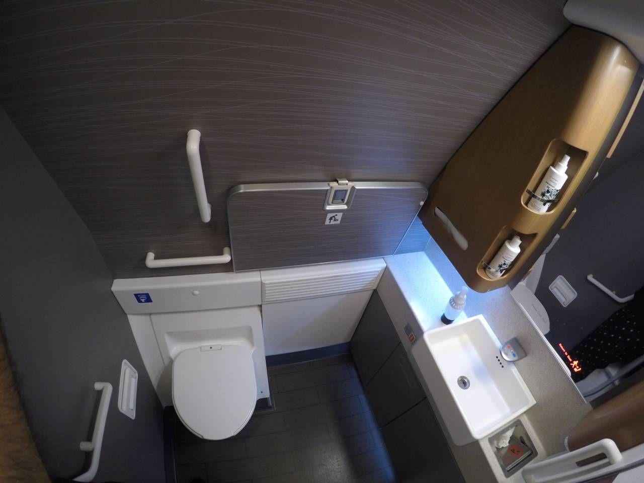 Airlines no B77W – São Paulo para Dallas Passageiro de Primeira #2059AB 1280x960 Banheiro De Avião