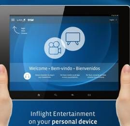 TAM se torna a única aérea brasileira a oferecer  entretenimento de bordo sem fio