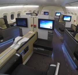 Primeira Classe da Lufthansa no B747-8 – Nova York para Frankfurt