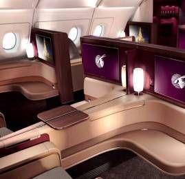 WOWWW ! Viaje na Primeira Classe da Qatar por R$660,00