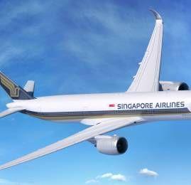 Singapore Airlines reiniciará voo direto na rota Cingapura-EUA com o novo A350