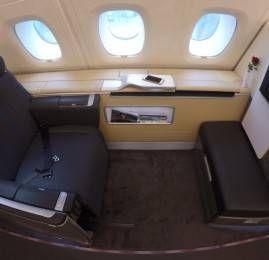 Primeira Classe da Lufthansa no A380 – Frankfurt para Seoul