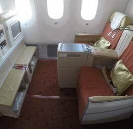 Classe Executiva da Air India no B787 – Seoul para Hong Kong