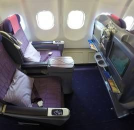 Classe executiva da Thai Airways no A330 – Hong Kong para Seoul