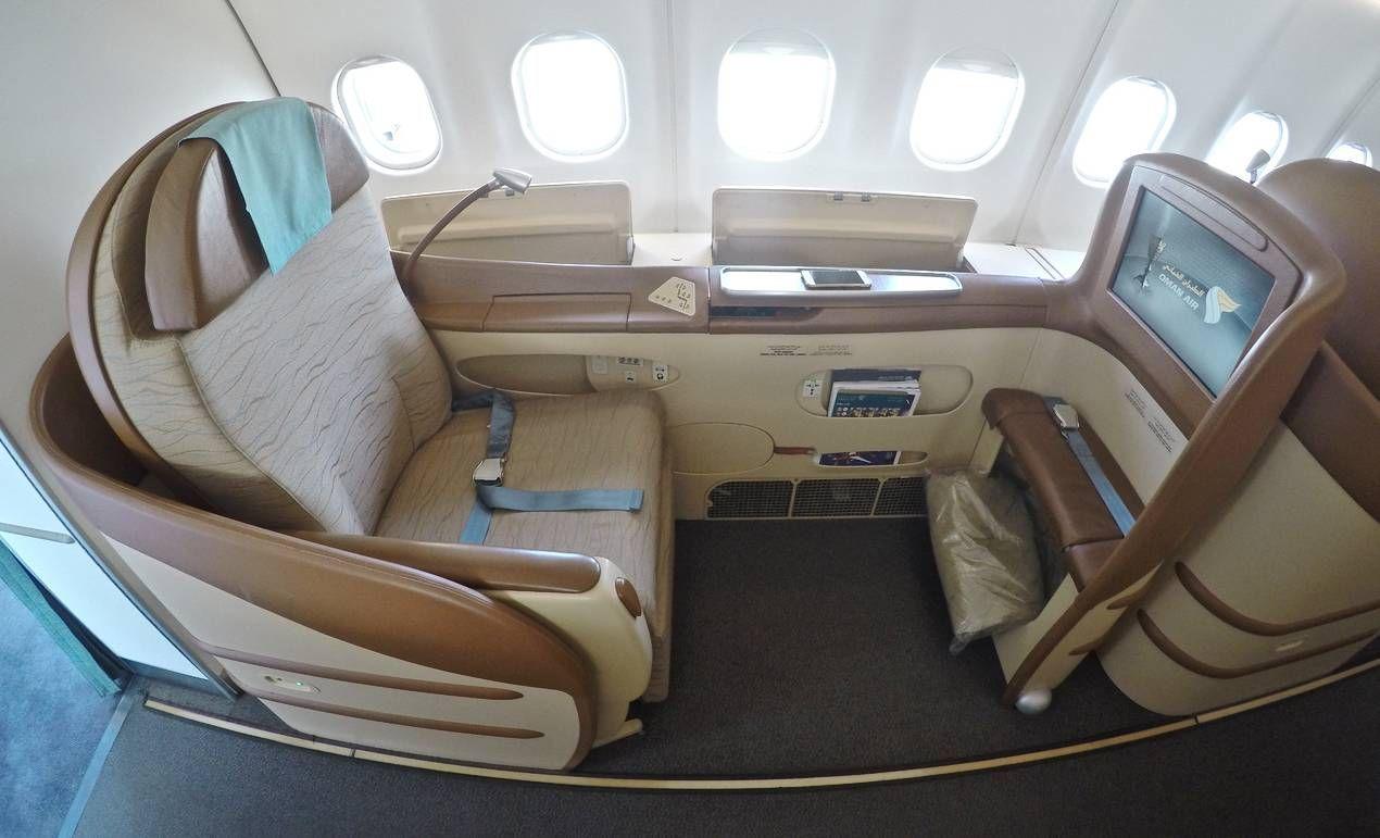 Classe Executiva da Oman Air no A330 – Muscat para Bangkok