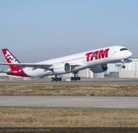 Primeiro A350 XWB da TAM voa pela primeira vez
