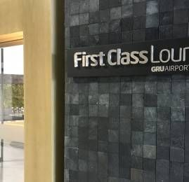 Check-in Air France La Première em Guarulhos e Sala VIP GRU First Class Lounge