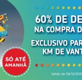 Só hoje! Clientes KM de Vantagens compram pontos Multiplus com 60% de desconto