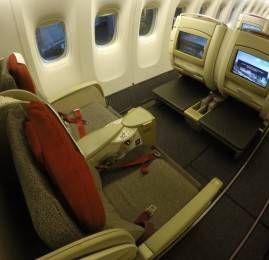 Classe executiva da TAM no B777-300ER – Frankfurt para São Paulo