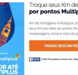 Km de Vantagens oferece 150% de bônus de volta na transferência para o Multiplus