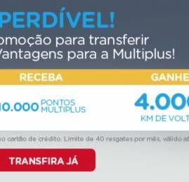 KM de Vantagens vai oferecer 200% de bônus de volta pra quem transferir pontos para a Multiplus