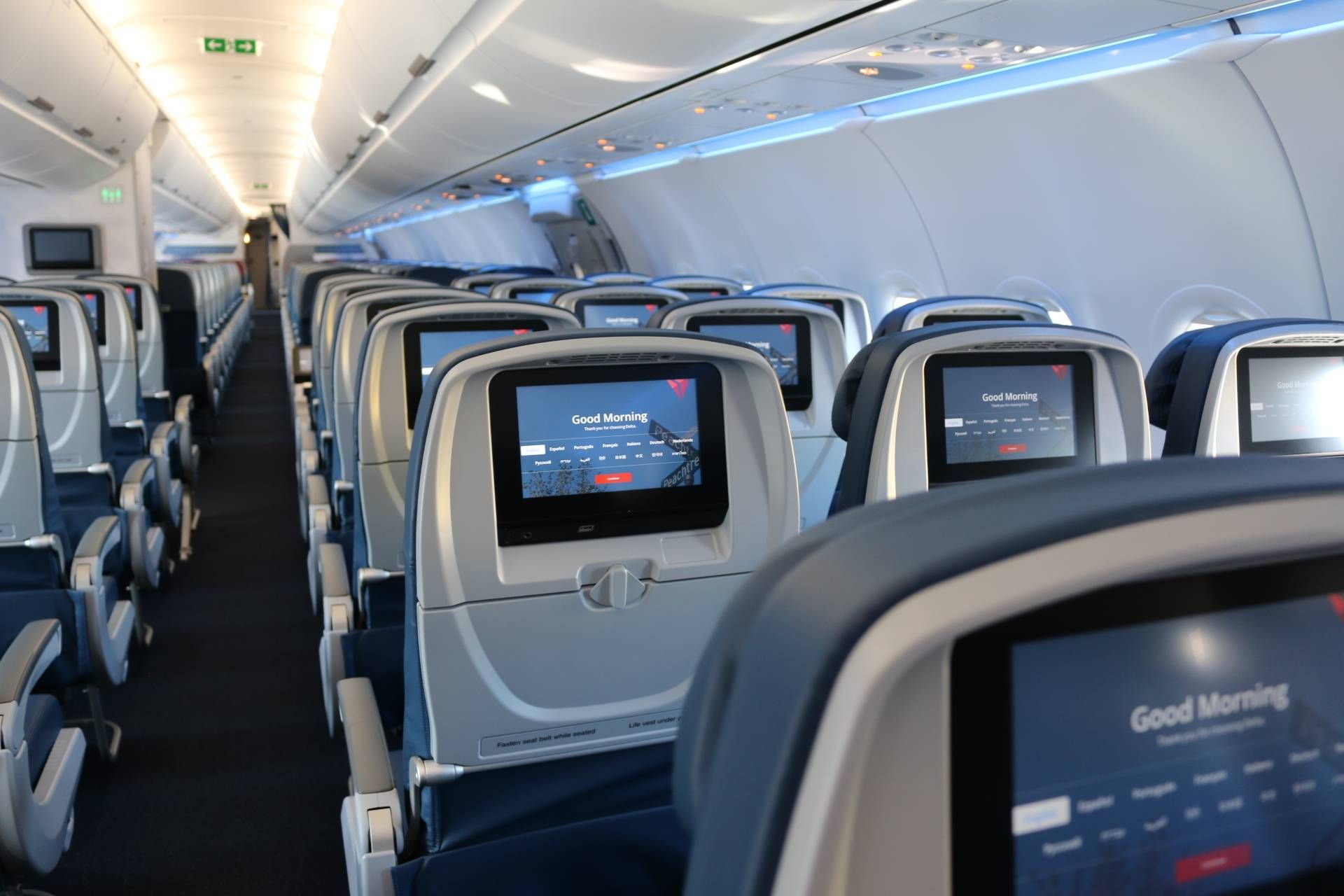 Delta A321 In flight audio and video system
