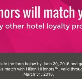 Hilton está oferecendo status match pro nível máximo (De novo!)
