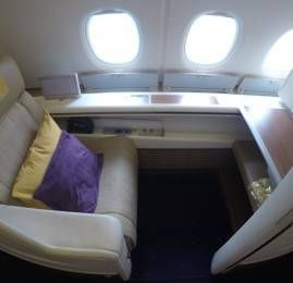 Primeira Classe da Thai Airways no A380 – Bangkok para Hong Kong