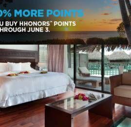 Hilton HHonors oferece 100% de bônus na compra de pontos