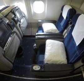 Classe executiva da TAP no A340 – São Paulo para Lisboa