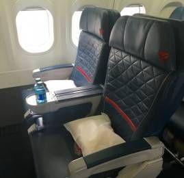 Primeira Classe doméstica da Delta no B717-200 – Nova York (JFK) para Atlanta (ATL)