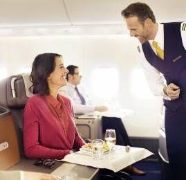 Passageiros Business Class e First Class da Lufthansa contam com serviços ainda mais personalizados a bordo