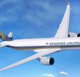 Singapore Airlines realiza primeiro voo de longa distância do A350 para Amsterdã