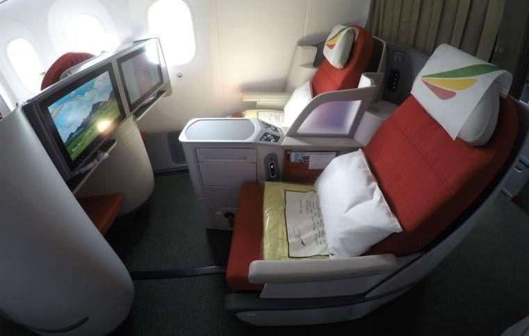 Classe Executiva da Ethiopian Airlines no B787 – Addis Ababa para São Paulo