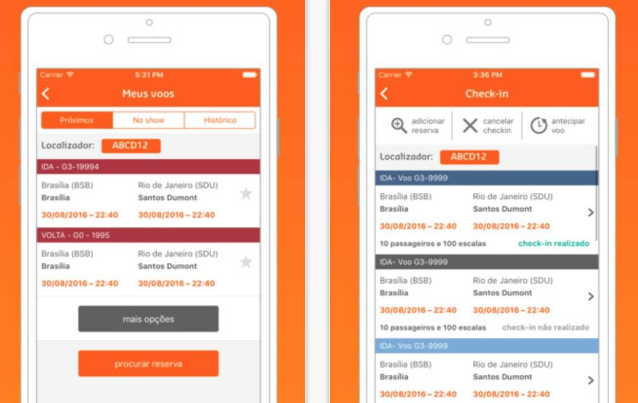 GOL lança nova versão do aplicativo mobile