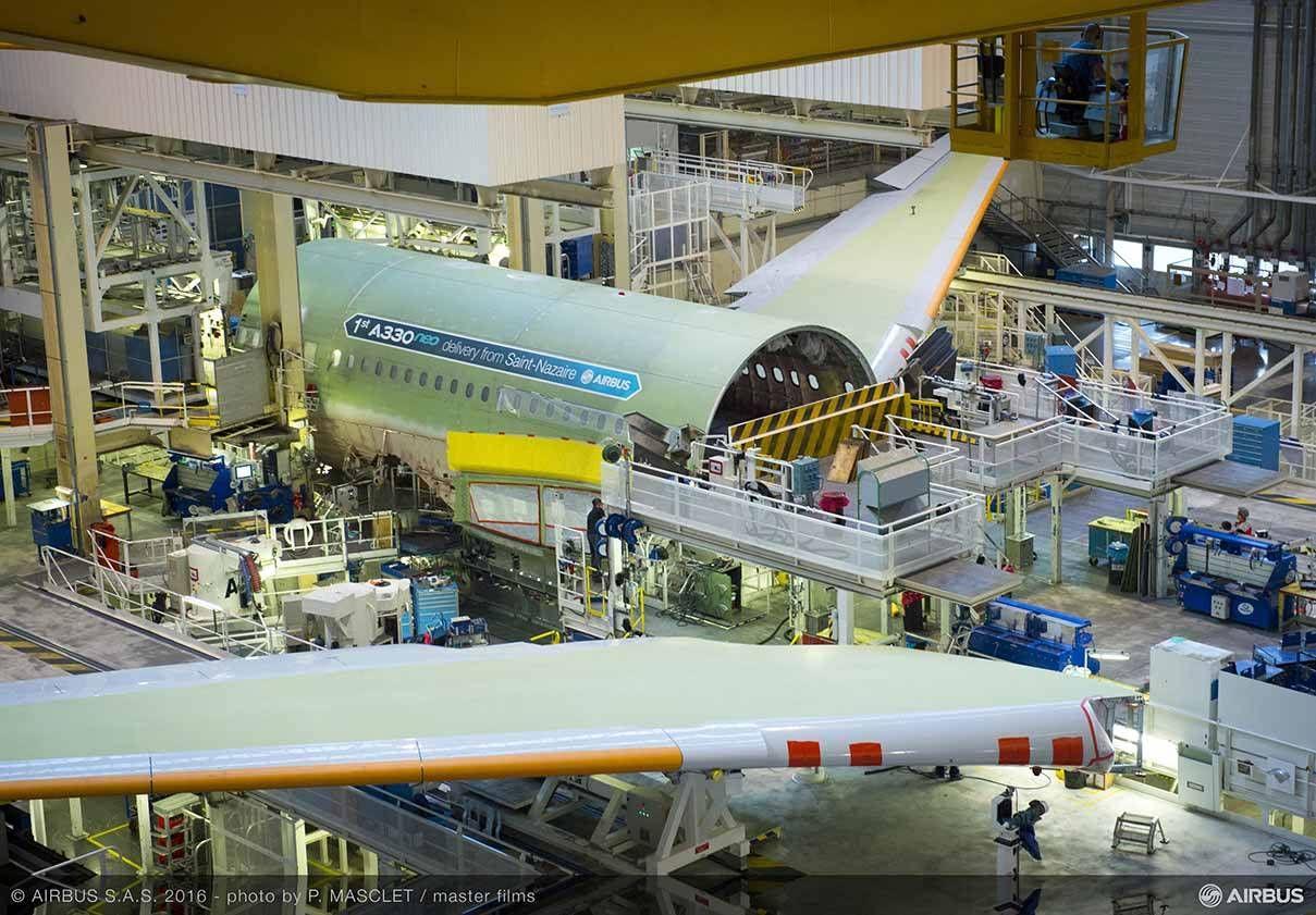 Primeiro A330neo entra na linha de montagem final em Toulouse