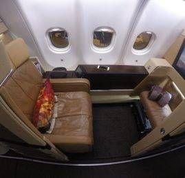 Primeira Classe da Etihad Airways no A330 – Abu Dhabi para Frankfurt