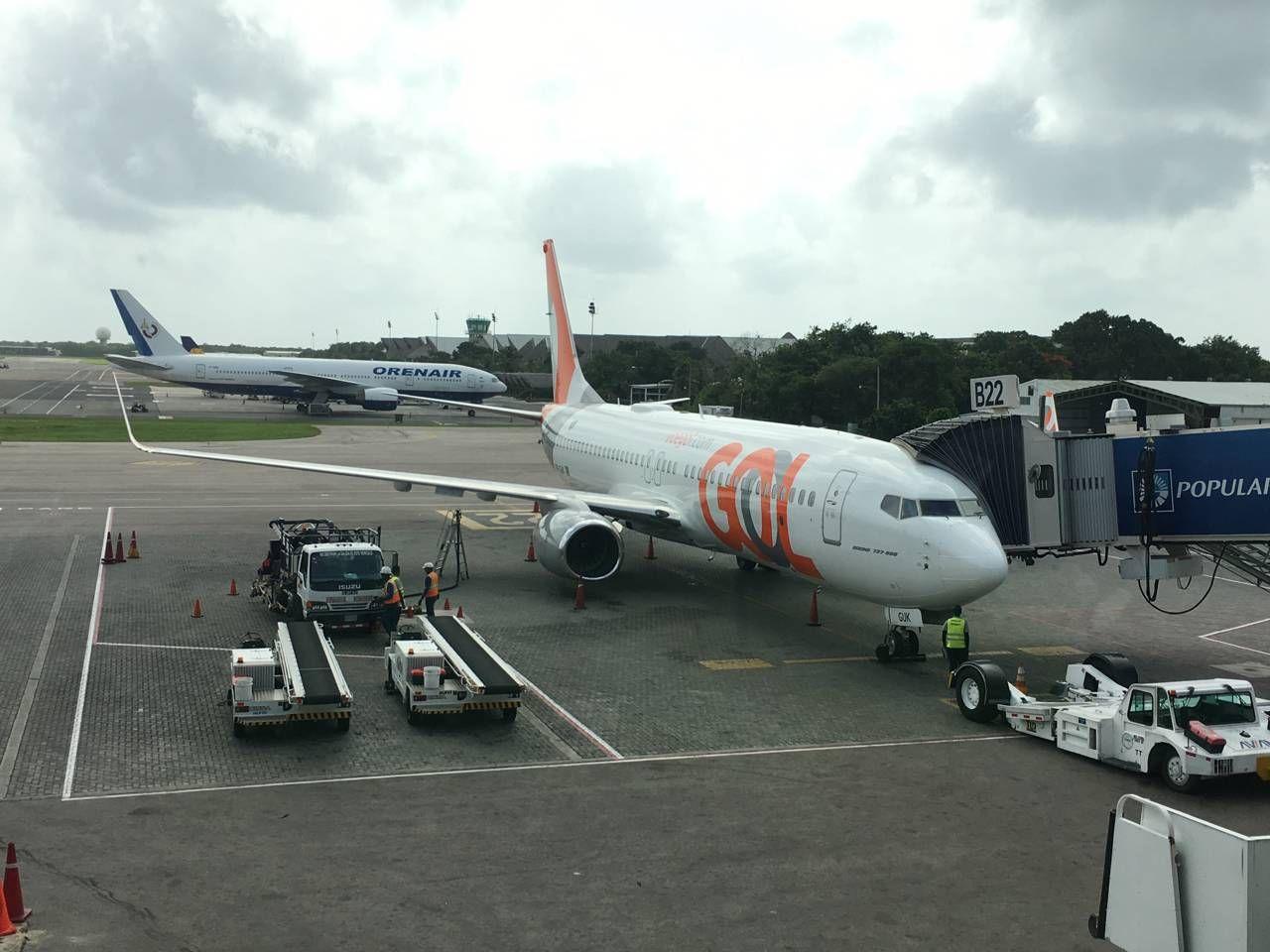 Premium da GOL – Punta Cana para São Paulo Passageiro de Primeira #743C2C 1280x960 Banheiro De Avião