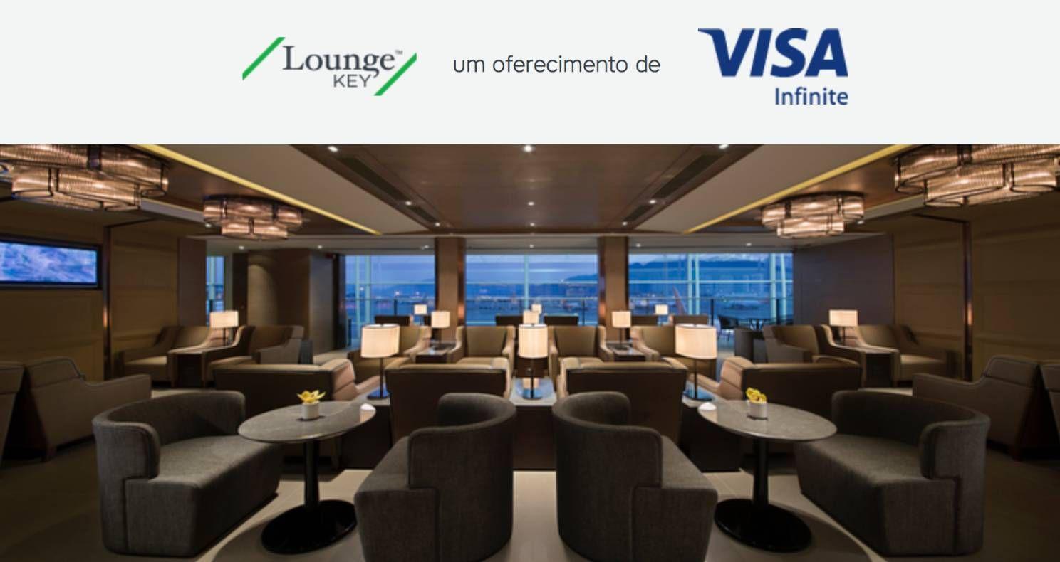 Portadores do VISA Infinite agora contam com acesso à mais de 750 salas vip's em aeroportos através do LoungeKey