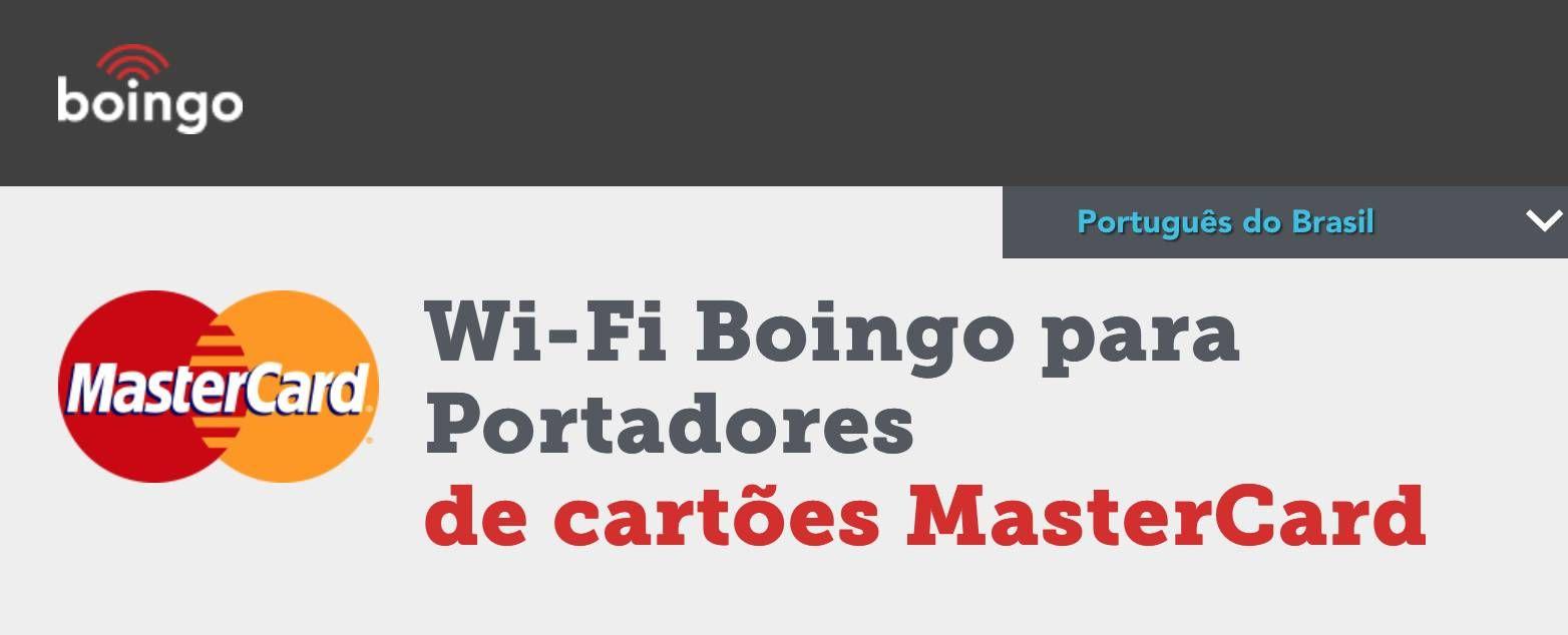 Portadores dos cartões Mastercard* terão acesso gratuito aos hotspots da Boingo pelo mundo