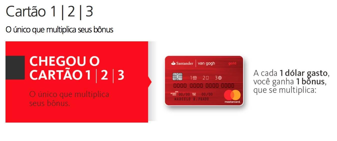 Santander lança novo cartão de crédito com multiplicador de pontos