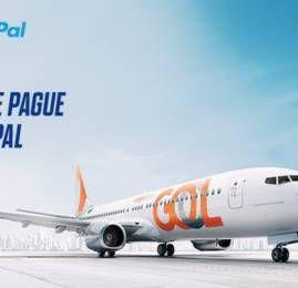 Pague suas passagens da GOL com PayPal e ganhe 10% de desconto