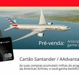 Você já pode solicitar o novo cartão de crédito da American Airlines vinculado ao Santander