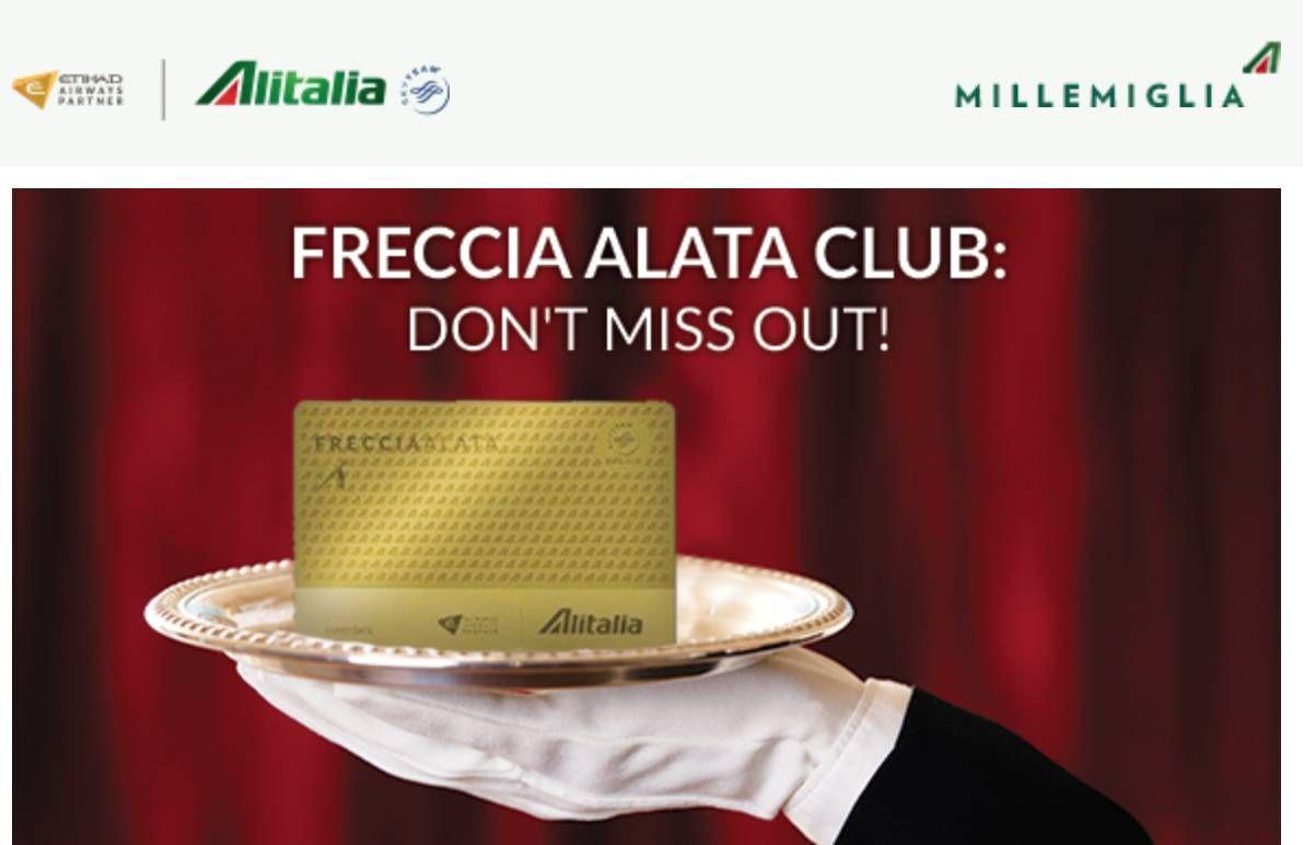 Alitalia está oferecendo requalificação de status com apenas 1 vôo