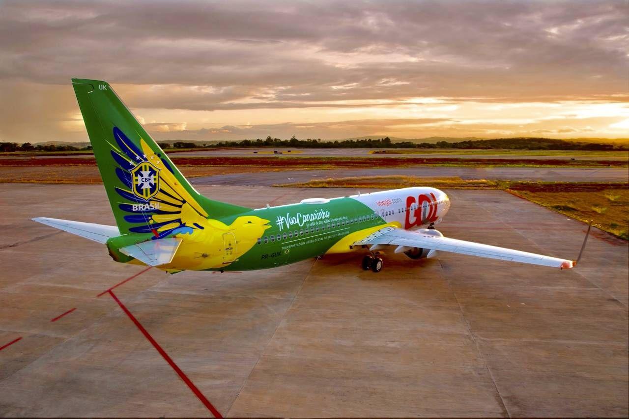 GOL apresenta nova aeronave da Seleção Brasileira de Futebol