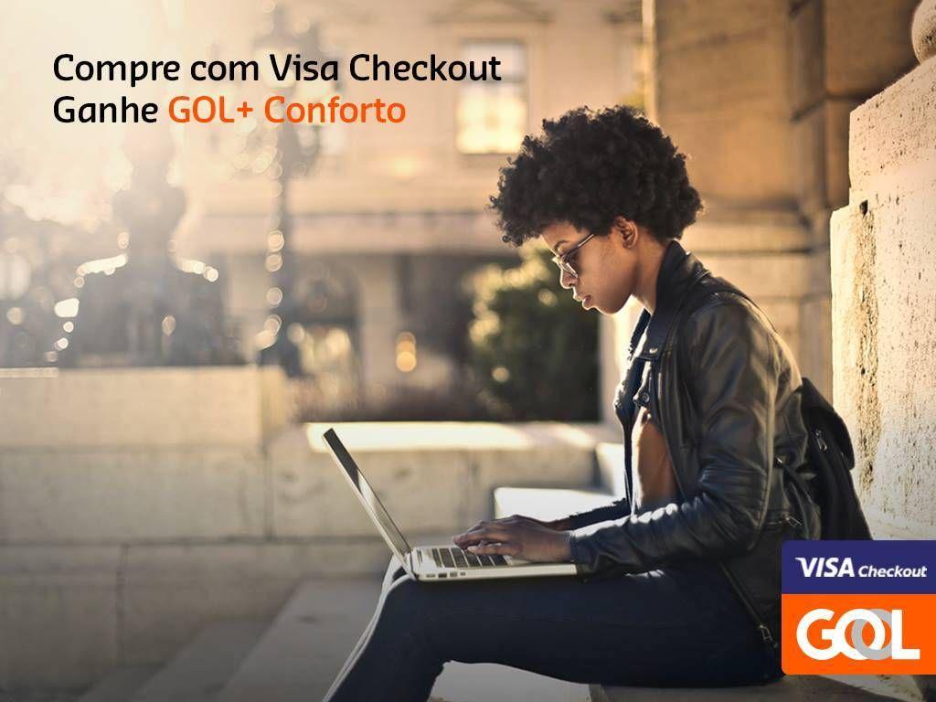 Pague suas passagens com Visa Checkout e ganha o assento GOL+ Conforto gratuito