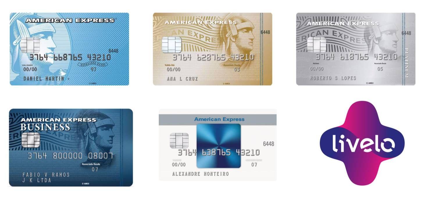"""Cartões American Express da linha """"Crédito"""" entram para a Livelo"""