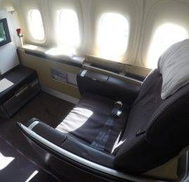 Primeira Classe da Lufthansa no B747-8 – Boston para Frankfurt