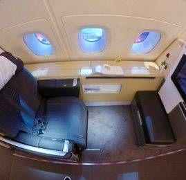 Primeira Classe da Lufthansa no A380 – Frankfurt para Cingapura