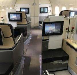 Primeira Classe da Lufthansa no B747-8 – Frankfurt para Washington