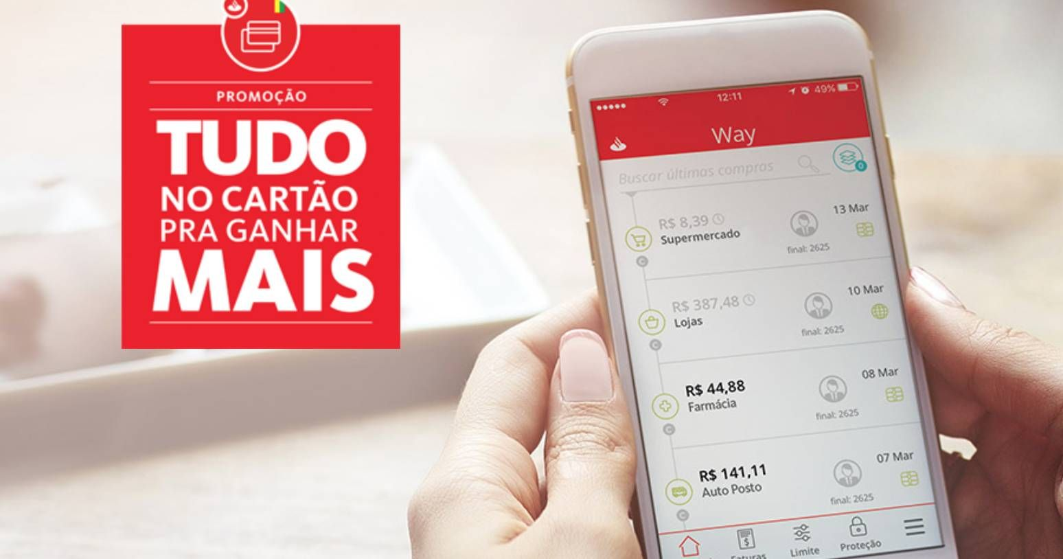 Últimos dias para liberar os pontos da promoção do Santander