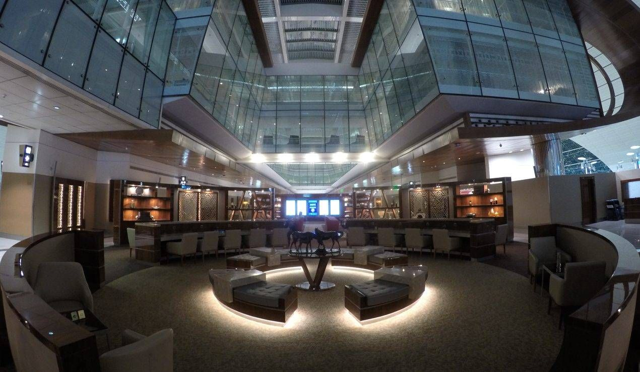 Sala VIP Emirates Business Class – Aeroporto de Dubai – Concourse B