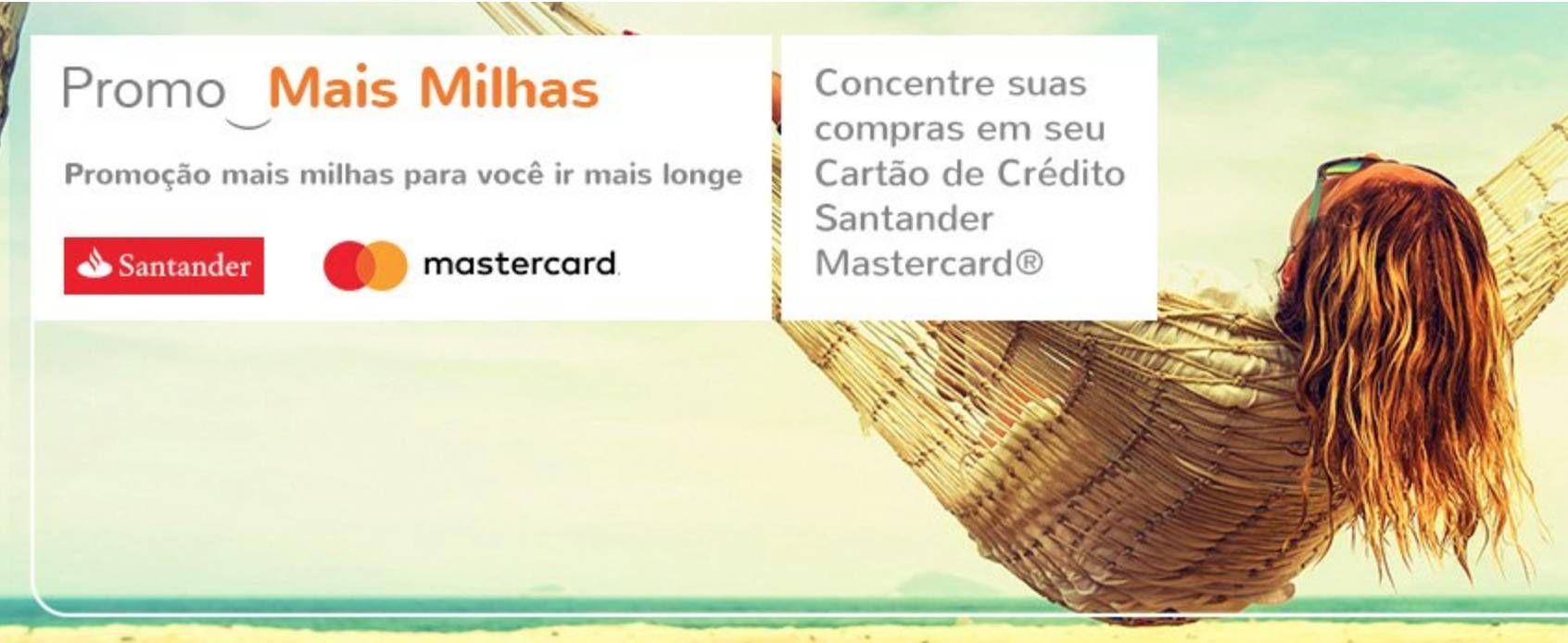 Use seu cartão Santander Mastercard e ganhe até 18.000 milhas