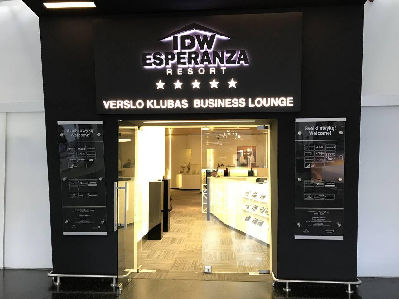 Sala VIP IDW Esperanza Resort Business Lounge – Aeroporto de Vilnius (VNO)