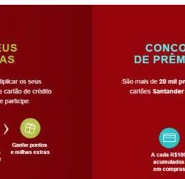 Nova promoção dos cartões Santander vai permitir turbinar seu acúmulo de pontos