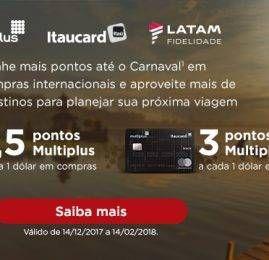 Portadores dos cartões Multiplus e LATAM Itaucard terão acúmulo de pontos especial para compras internacionais
