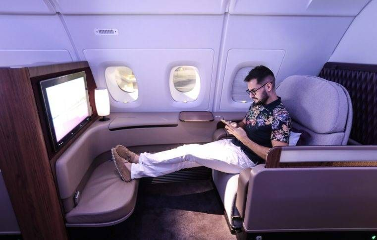 Primeira Classe da Qatar no A380 – Doha para Bangkok
