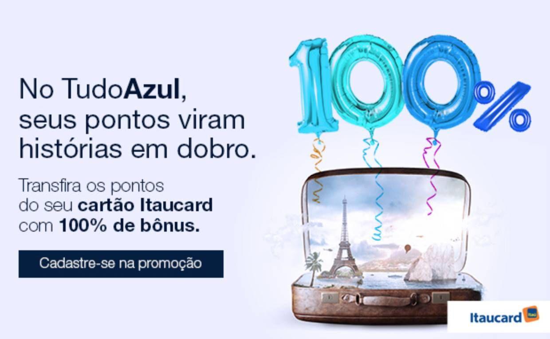 Itaú e Credicard estão oferecendo 100% de bônus nas transferências para o Tudo Azul – Seria um bom negócio?