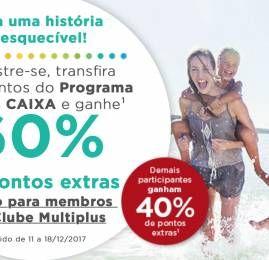 Multiplus dá até 60% de pontos extras nas transferências dos cartões de crédito CAIXA